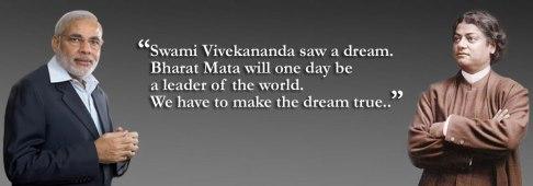 Narendra Modi and Swami Vivekananda