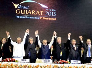 Narendra Modi with Indian CEOs
