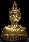 Reliquary Bust of Charlemagne (c. 1350), Aachen Cathedral Treasury, Germany.