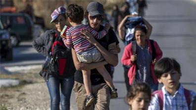 Refugees Entering Serbia