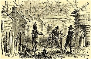 Squanto Greets the English Settlers