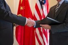 Chinese-US Handshake