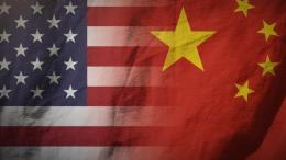 US+China Flags