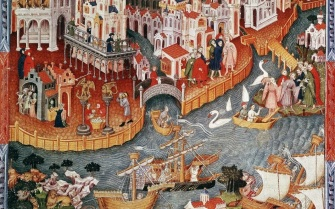Illuminated Manuscript Page_Marco Polo-Venice to East-1271_Nadis NY_Shutter Stock_1280x800