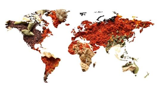 Golden global market word  isolated on white background 3D illustration.